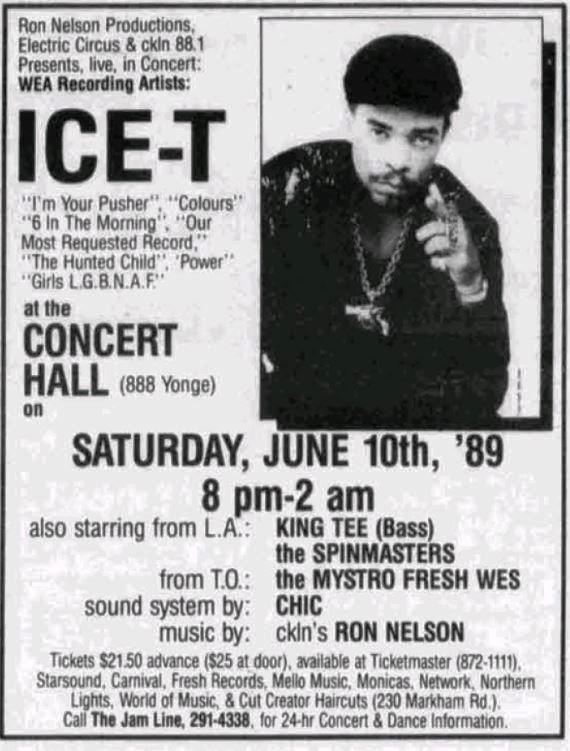 Image result for ice- t vintage concert poster